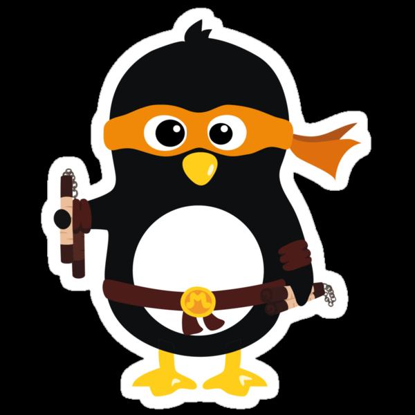 Penguin Ninja Michael Angelo by Arpsara