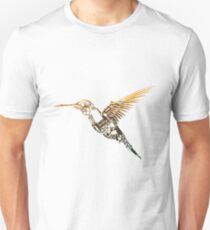 Steampunk Humming Bird Unisex T-Shirt
