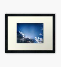 Blue & Clouds Framed Print