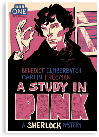 Vintage Poster - A Study In Pink by Chris Schweizer
