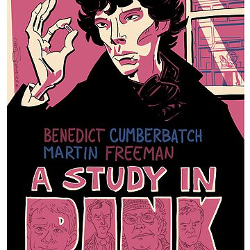 Vintage Poster - A Study In Pink by schweizercomics