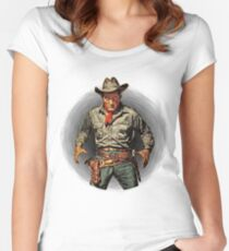 Classic Gunslinger Women's Fitted Scoop T-Shirt