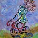 Jar on bike by Ellen Marcus