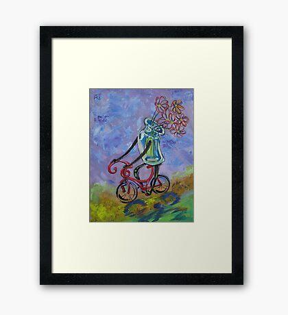 Jar on bike Framed Print