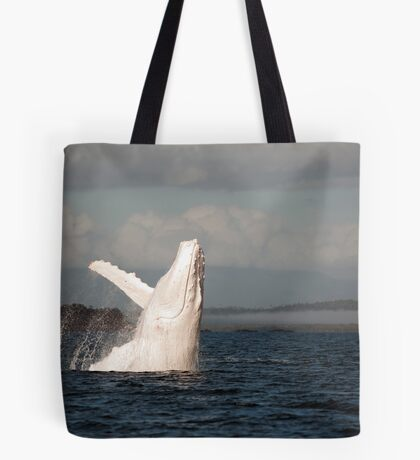 White Whale Wave - Migaloo Tote Bag