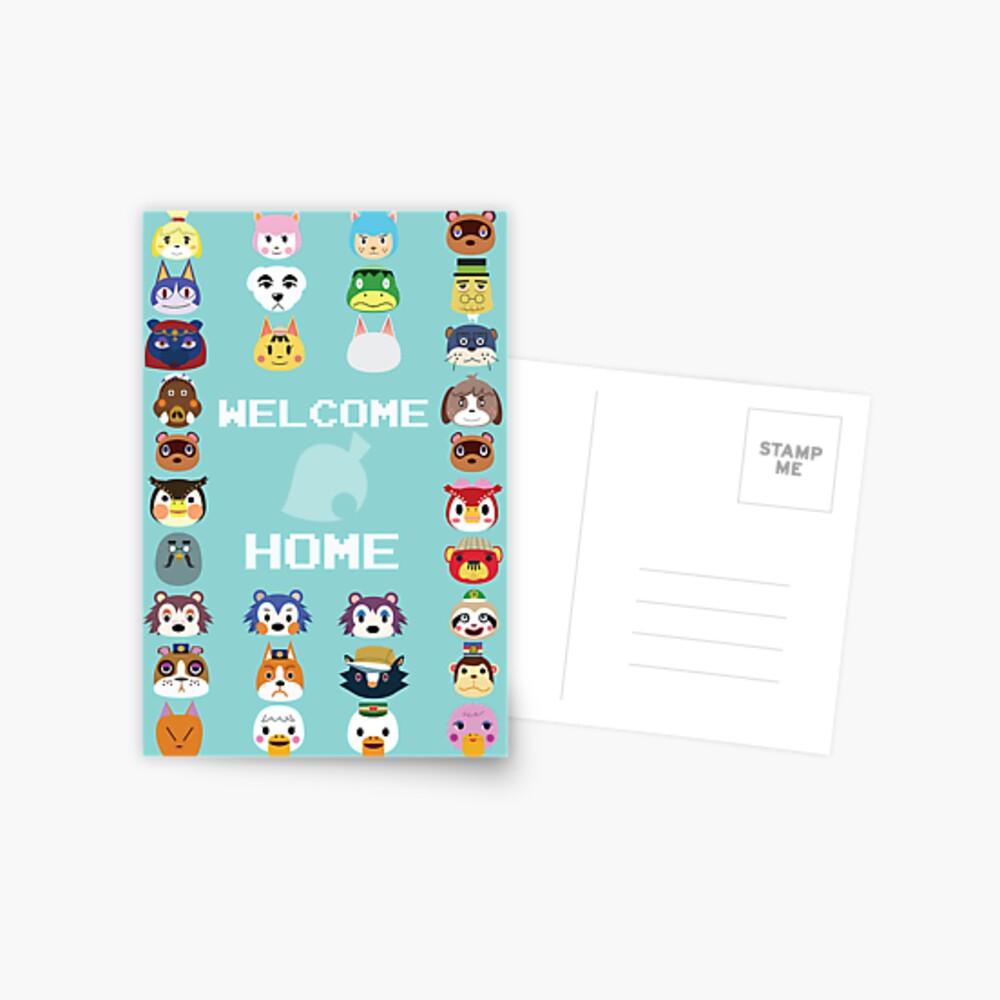 Welcome Home Postkarte