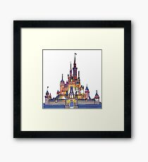 Watercolor Castle Framed Print