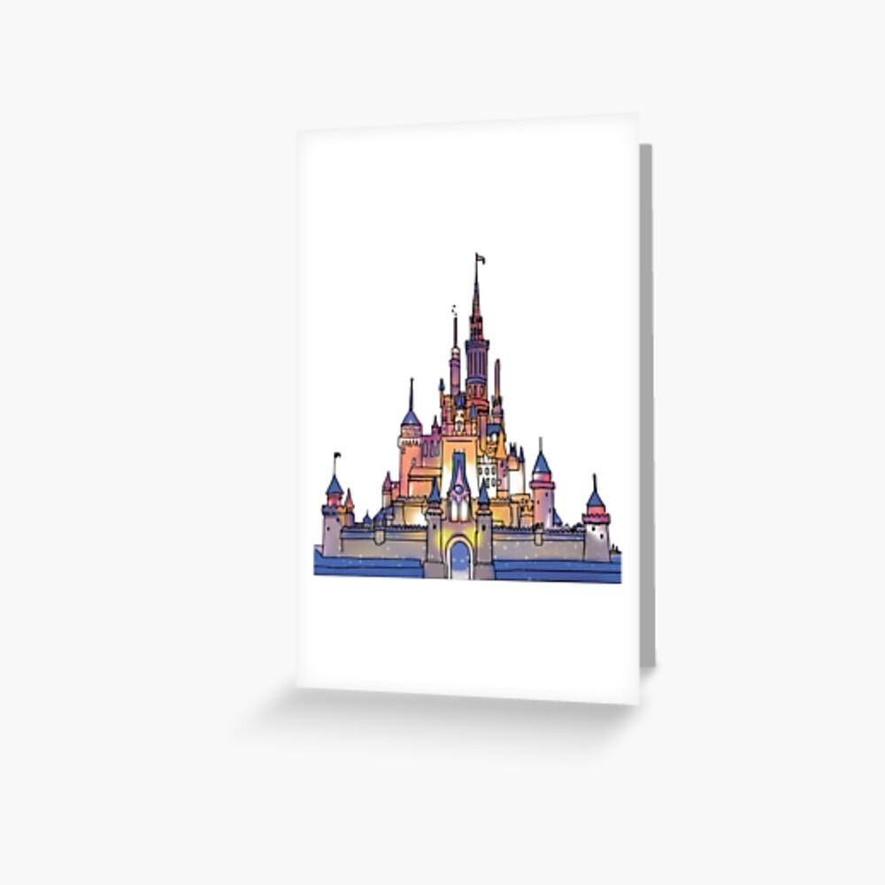 Aquarell Schloss Grußkarte