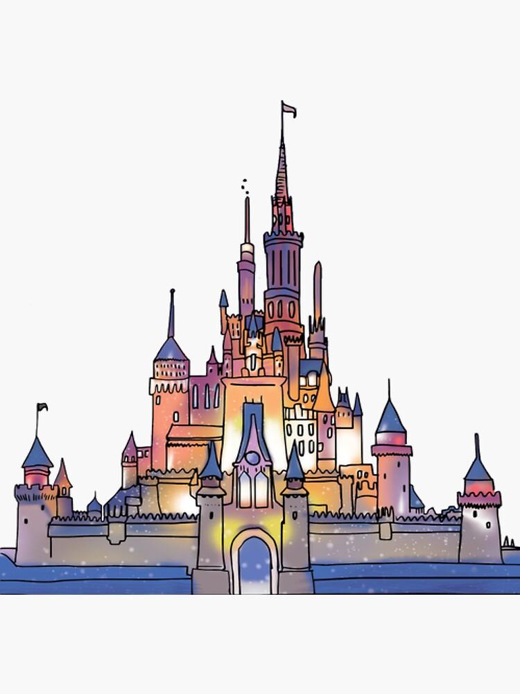 Aquarell Schloss von shannonfraney
