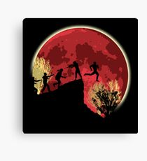 Zombies! Run you fool... Canvas Print