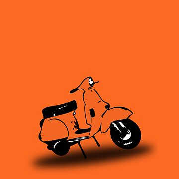 orange vespa px by johnvikias