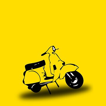 yellow vespa px  by johnvikias