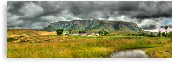 Colourful Community Panoramic by Clive S