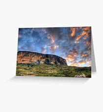 Tiger Falls Mountain Greeting Card