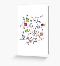 Hand draw chemistry background Greeting Card