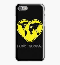 Love Global iPhone Case Black Yellow iPhone Case/Skin