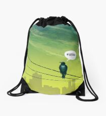 Bird on Wire Drawstring Bag