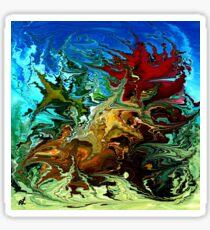 modern composition 30 by rafi talby Sticker