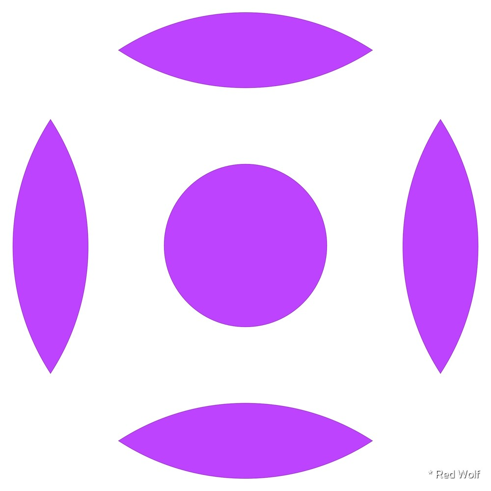 Geometric Pattern: Intersect Circle: White/Purple by * Red Wolf