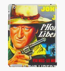 Belgian poster of The Man Who Shot Liberty Valance iPad-Hülle & Klebefolie