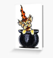 Yorkie Something Brewing Greeting Card