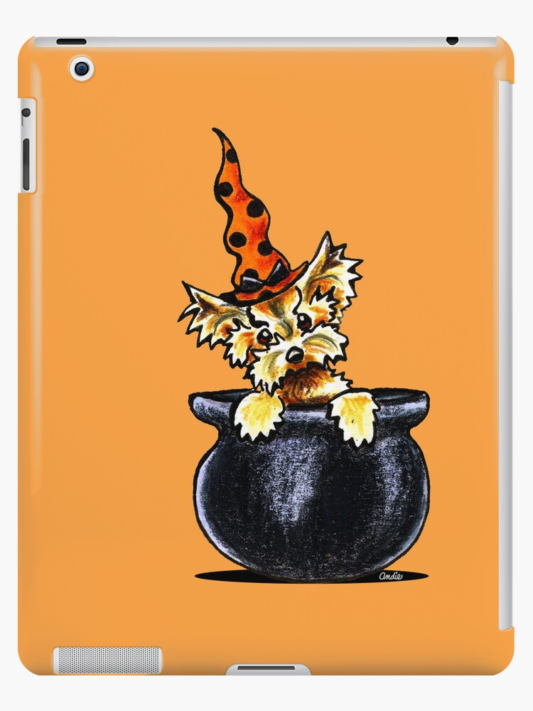 Yorkie Something Brewing by offleashart