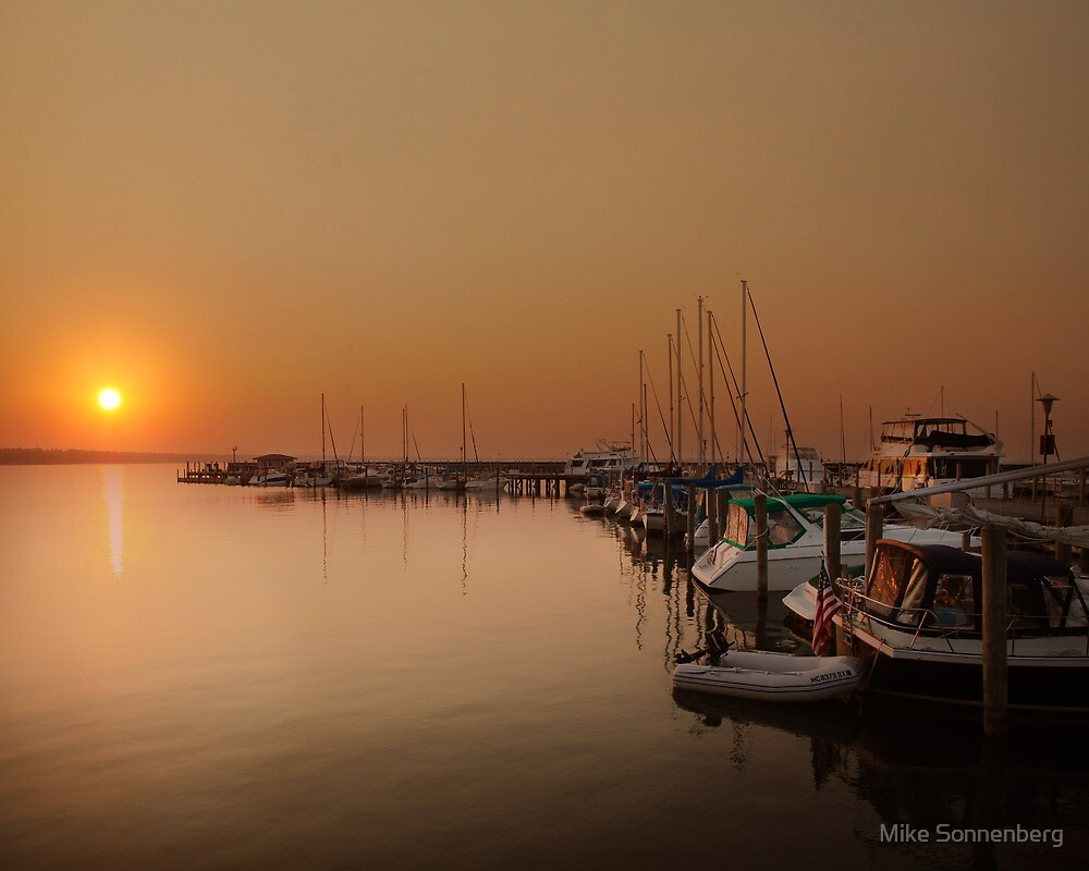 Tawas Harbor Sunrise by Mike Sonnenberg