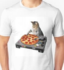 scratching pizza cat Unisex T-Shirt