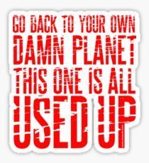 Message TO Space Sticker