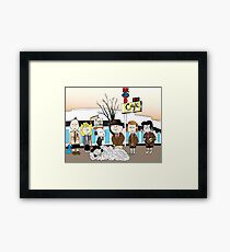 Twin Peanuts Framed Print