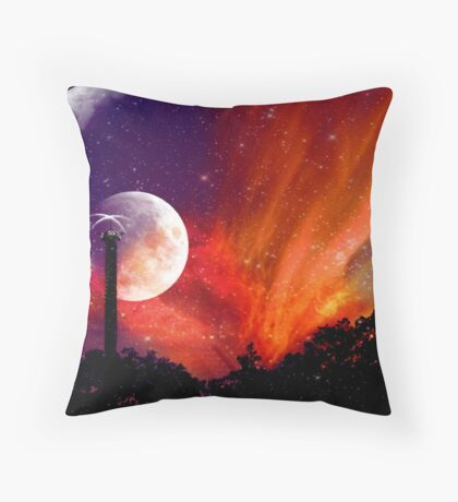 ZhuRong, Planet of Fire, Andromeda Galaxy Throw Pillow
