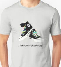 Shoelaces, tumblr question Unisex T-Shirt