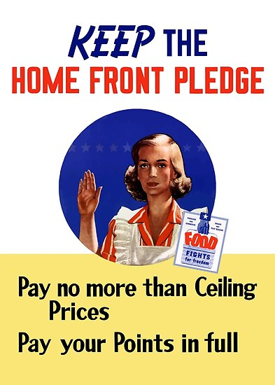 Keep The Home Front Pledge -- WWII by warishellstore