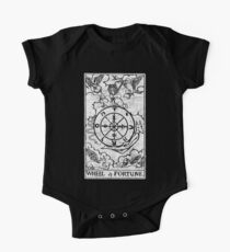 Wheel of Fortune Tarot Card - Major Arcana - fortune telling - occult One Piece - Short Sleeve