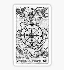 Wheel of Fortune Tarot Card - Major Arcana - fortune telling - occult Sticker