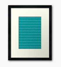 blue wave case Framed Print