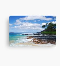 Pa'ako Beach, Makena ~Morning light Canvas Print