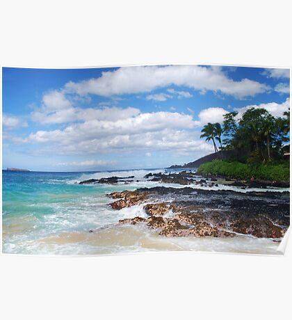 Pa'ako Beach, Makena ~Morning light Poster