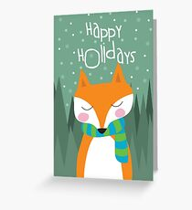Fox Holiday Card Greeting Card