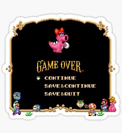 Game Over / Super Mario Bros. 2 Sticker