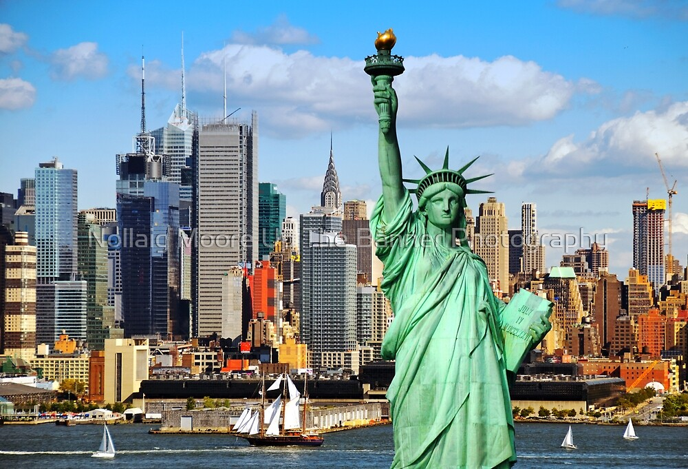 Quot New York Statue Liberty Nyc Skyline Cityscape Quot By Noel