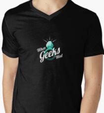 When Geeks Wed Mens V-Neck T-Shirt