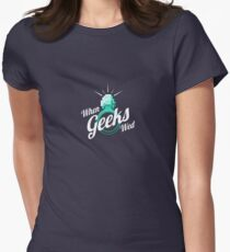 When Geeks Wed Womens Fitted T-Shirt