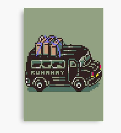 Runaway 5 (Tonzura Brothers) Bus - Earthbound Canvas Print