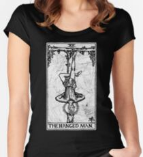 The Hanged Man Tarot Card - Major Arcana - fortune telling - occult Women's Fitted Scoop T-Shirt