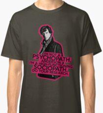Sherlock - Sociopath not Psychopath Classic T-Shirt