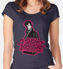 Sherlock - Sociopath not Psychopath Women's Fitted Scoop T-Shirt