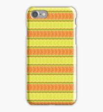 seamless pattern with lemon, orange and abstract leaf iPhone Case/Skin