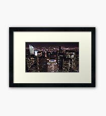 New York Night Skyline Framed Print