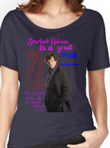 BBC Sherlock: Lestrade Quote. Women's Relaxed Fit T-Shirt